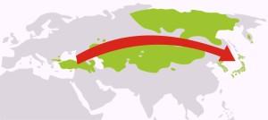 Movimento de Migração da Língua Altaica em 2000 a.C.